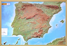 Raised Relief maps of Spain