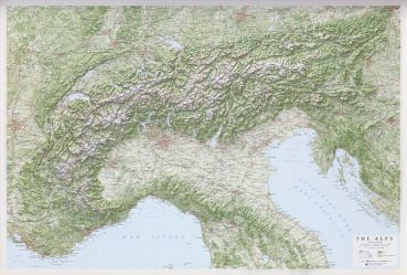 XL Wall Map Alps 1: 500.000