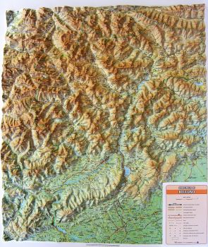 Raised relief map Belluno