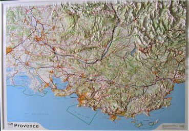 Raised relief map Provence