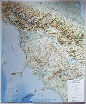 Relief Map of Tuscany