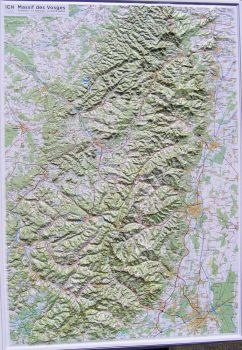 Raised relief map Vosges