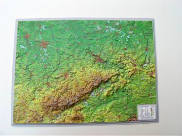 Raised relief map Saxony
