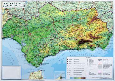 Karte Andalusien Portugal.Britische Inseln Reliefkarte