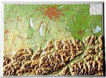 Relief Map Bavarian Alps