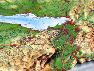 Relief Map Allgäu and Lake Constance small