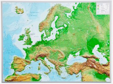 Relief Map of Europe 1:16.000.000