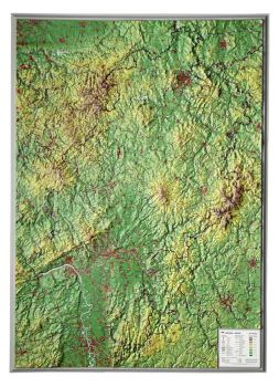 Raised relief map Hesse, big
