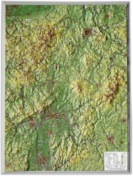 Raised relief map Hessen