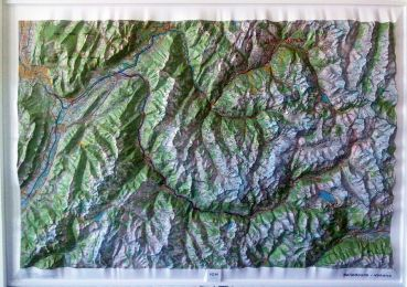Raised relief map Belledonne and Vanoise