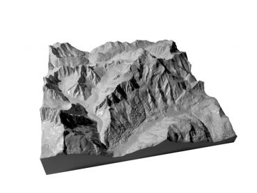 Mountain model Mont Blanc 1:100.000