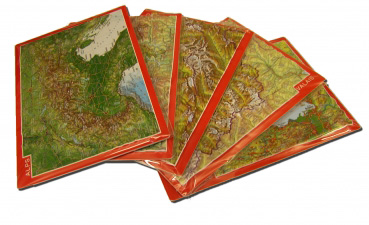 Relief postcard Set Alps