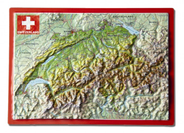 Raised relief postcard Switzerland