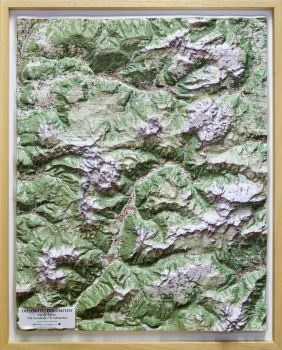 Dolomite relief map