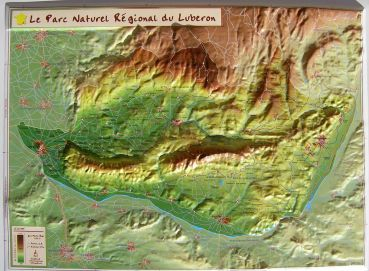 Raised Relief Map Luberon