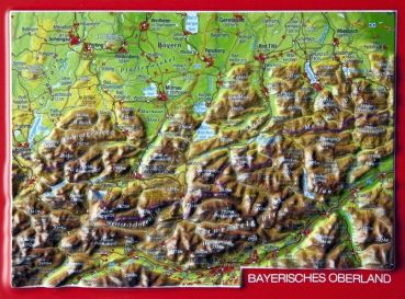 Relief postcard Bavarian Oberland