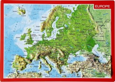 Relief map of Europe postcard