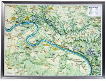 Raised relief map Map Saxon Switzerland