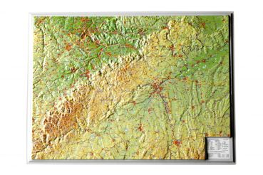 Raised relief map Swabian Alb