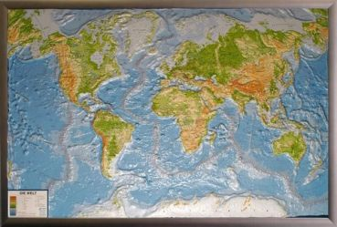 3D Physical World Map