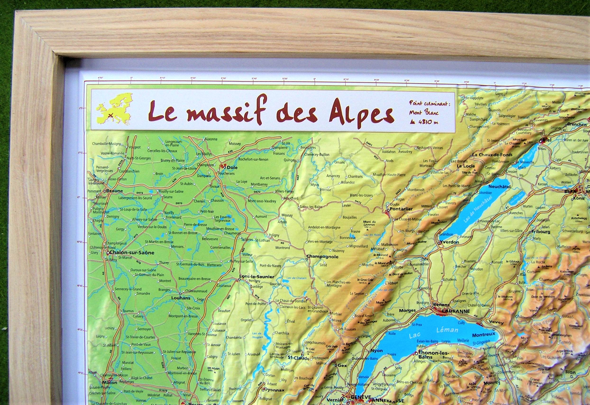 Raised Relief World Map.Raised Relief Map Of French Alps As 3d Map
