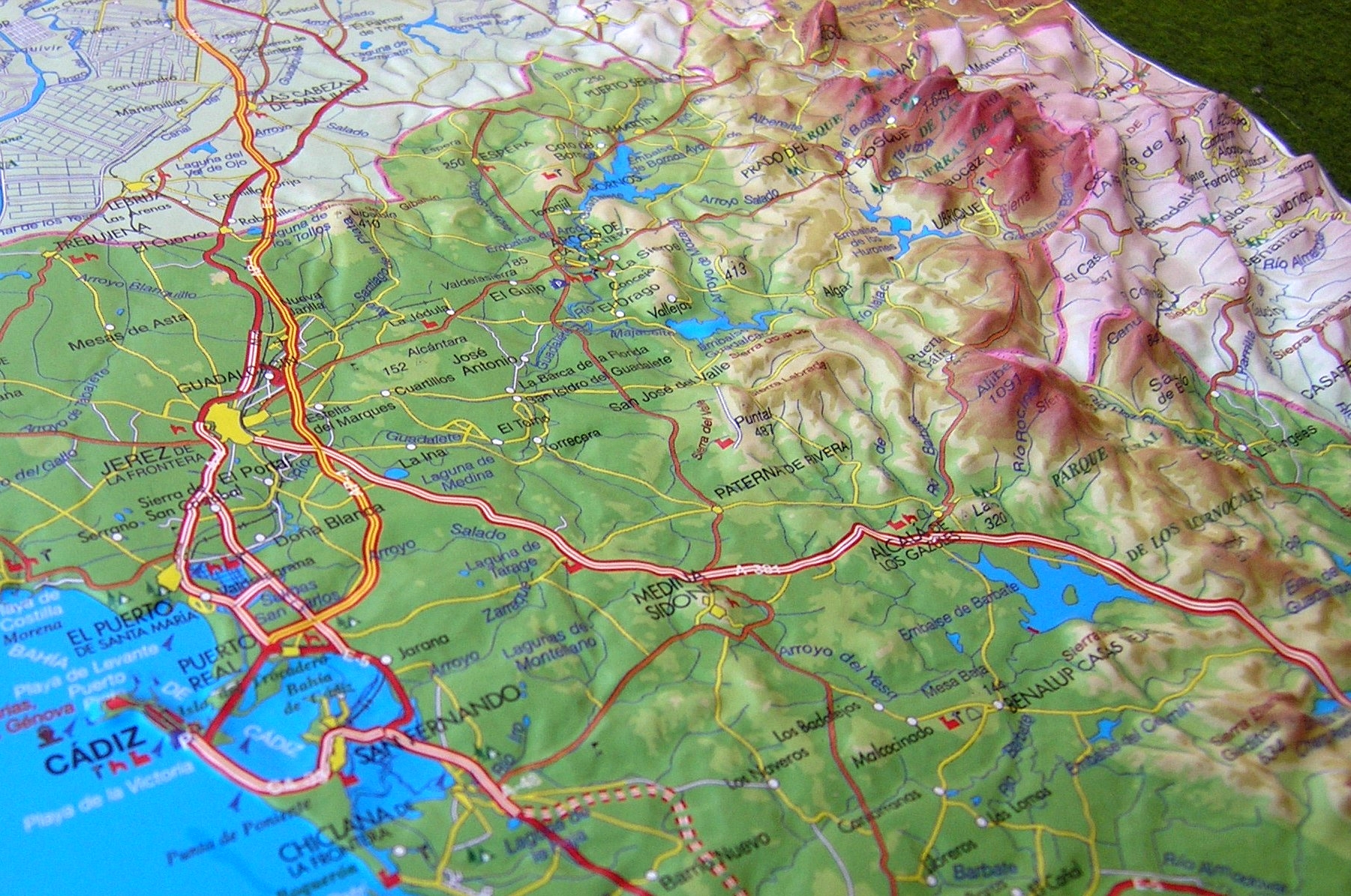 South Of Spain Map.Raised Relief Map Of Cadiz South Spain As 3d Map