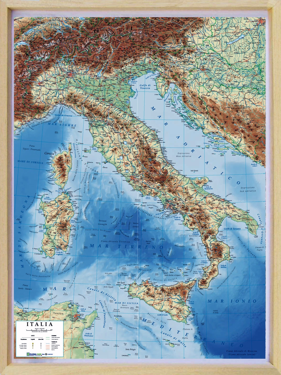 Picture Of Italy Map.Relief Map Of Italy As 3d Map