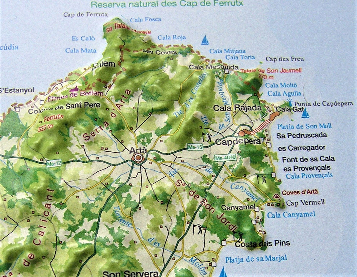 Raised Relief Map Mallorca As 3d Map