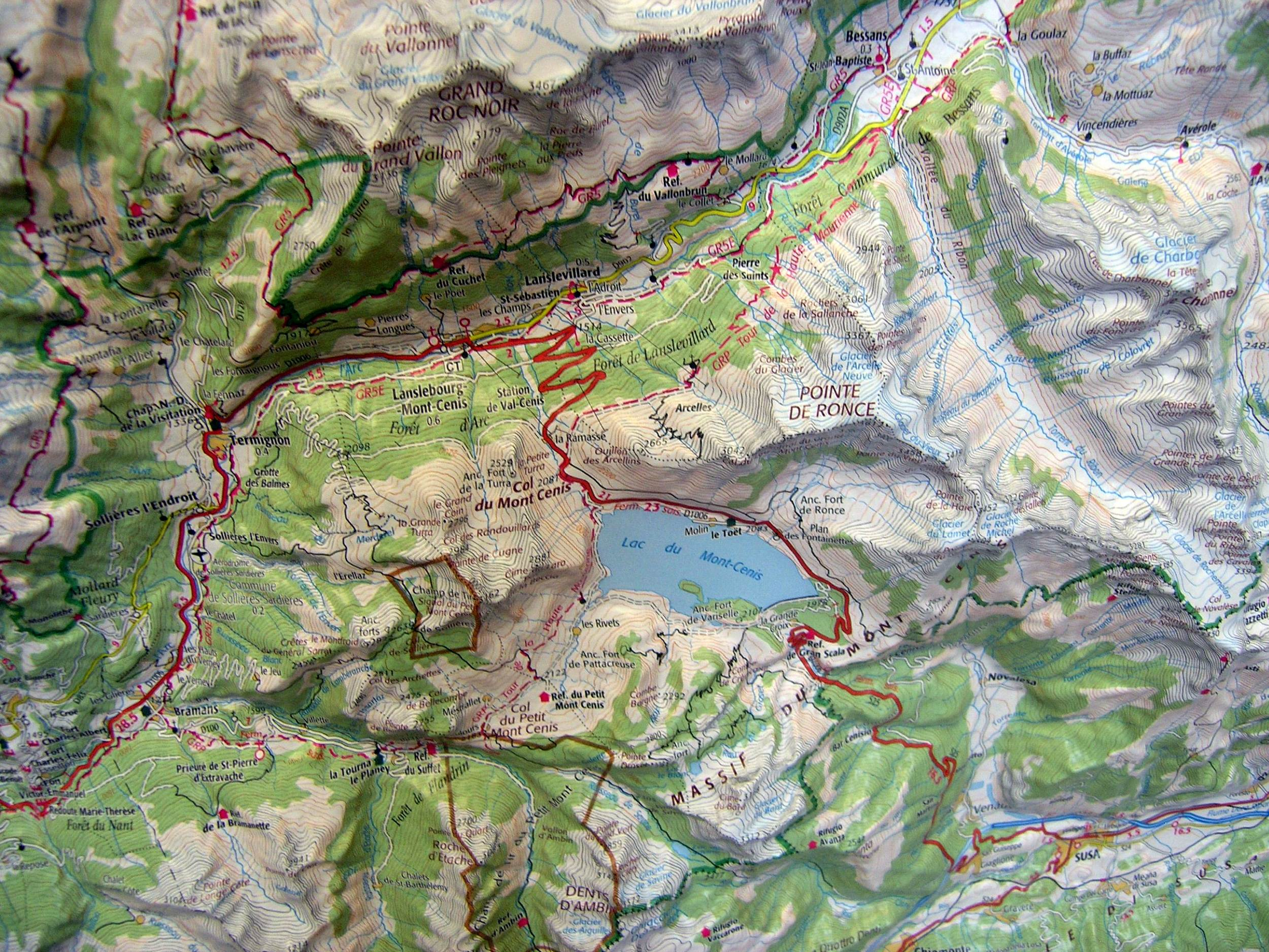 Raised Relief Map Belledonne And Vanoise As D Map - Raised relief map