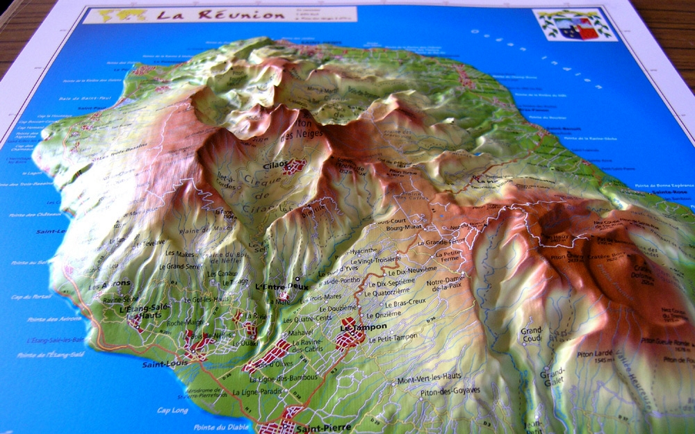 Relief Map Of La Reunion As 3d Map