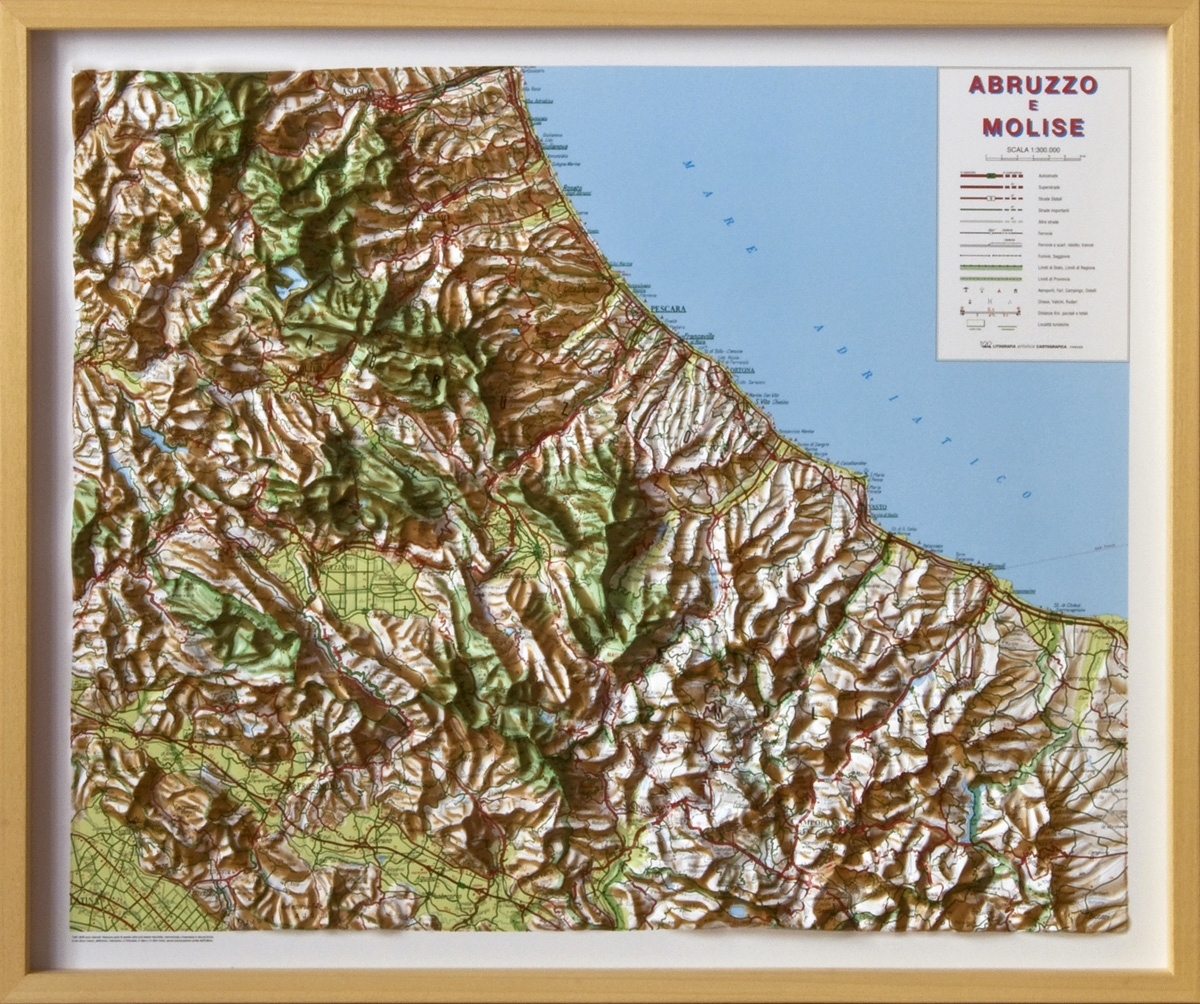 Picture of: Relief Map Of Abruzzo And Molise As 3d Map