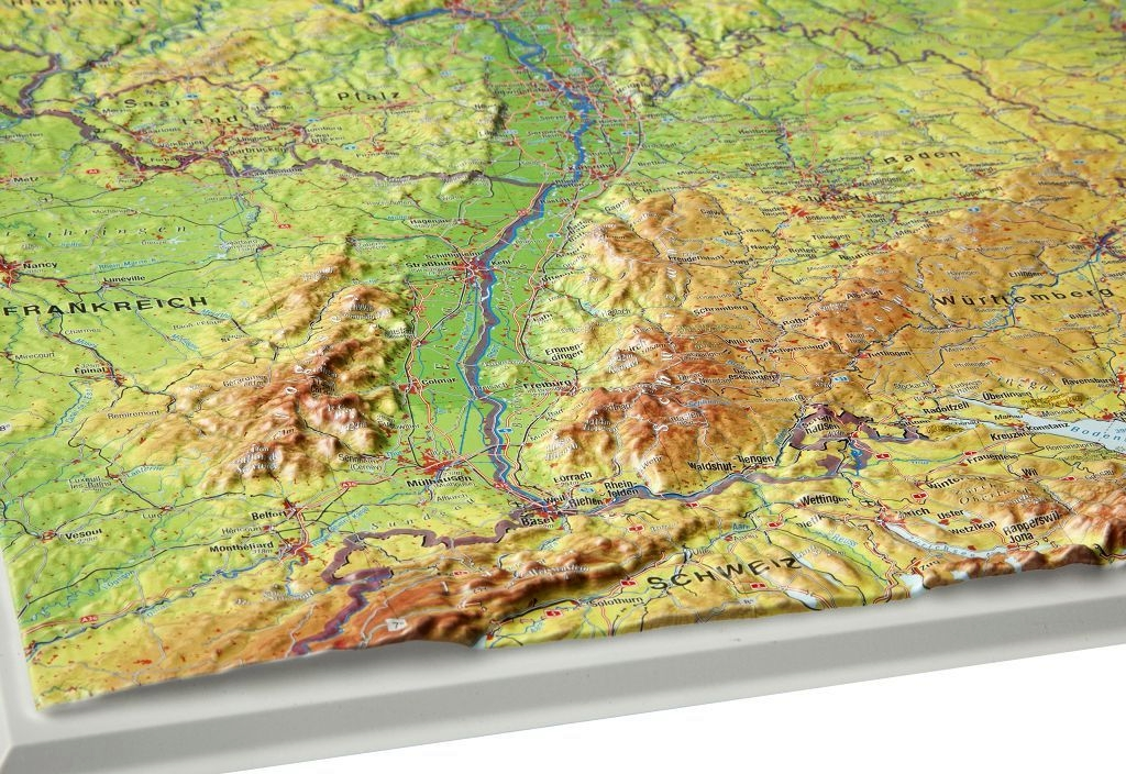 Raised Relief Map Map Of Germany Big As 3d Map