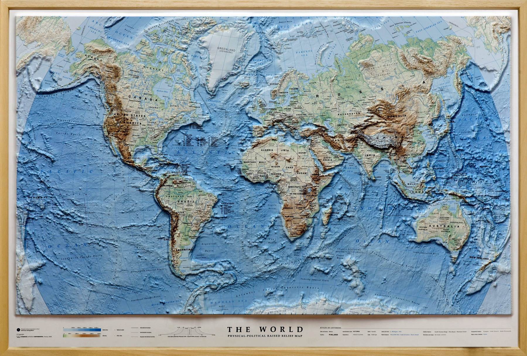 Relief Map Of The World.Relief Map Of The World As 3d Map