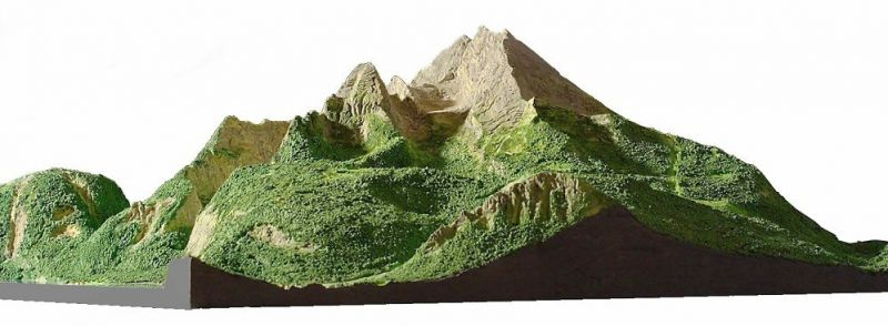 Mountain Model Watzmann 2,714 m