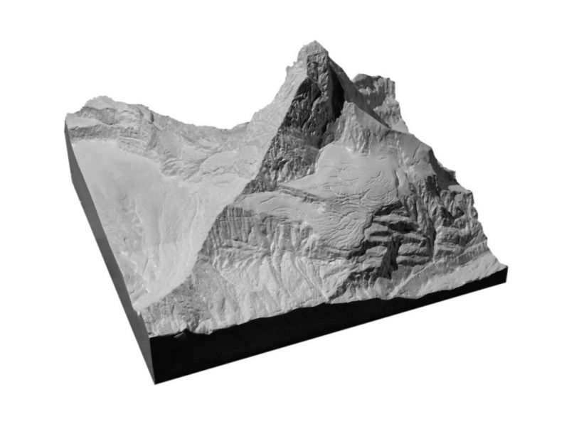 Raised relief map  Matterhorn