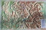 Raised relief map Hautes Alpes