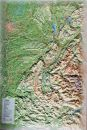 raised relief map Isere