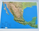 Raised relief map Mexico