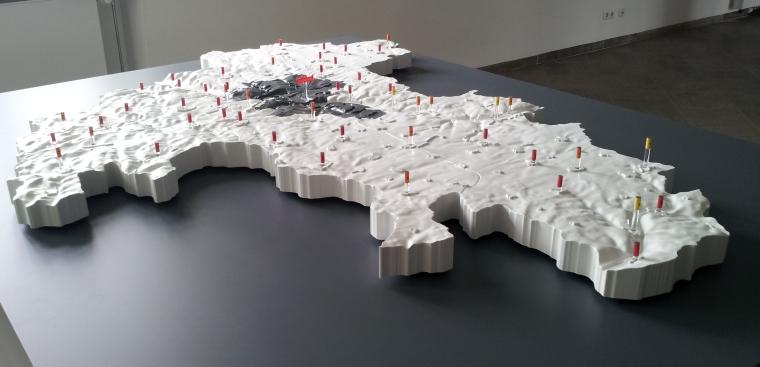 landkreismodell w rzburg as 3d map. Black Bedroom Furniture Sets. Home Design Ideas